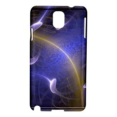 Fractal Magic Flames In 3d Glass Frame Samsung Galaxy Note 3 N9005 Hardshell Case by Simbadda