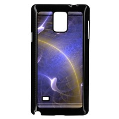 Fractal Magic Flames In 3d Glass Frame Samsung Galaxy Note 4 Case (black) by Simbadda