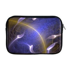 Fractal Magic Flames In 3d Glass Frame Apple Macbook Pro 17  Zipper Case by Simbadda
