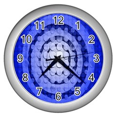 Abstract Background Blue Created With Layers Wall Clocks (silver)  by Simbadda