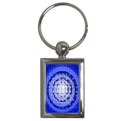 Abstract Background Blue Created With Layers Key Chains (rectangle)  by Simbadda