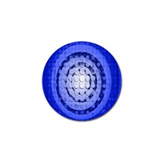 Abstract Background Blue Created With Layers Golf Ball Marker by Simbadda