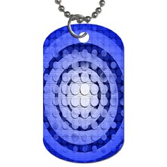 Abstract Background Blue Created With Layers Dog Tag (two Sides) by Simbadda