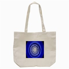 Abstract Background Blue Created With Layers Tote Bag (cream) by Simbadda