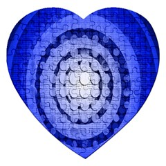 Abstract Background Blue Created With Layers Jigsaw Puzzle (heart) by Simbadda