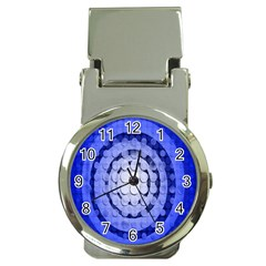Abstract Background Blue Created With Layers Money Clip Watches by Simbadda