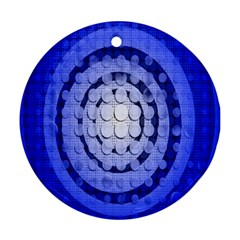 Abstract Background Blue Created With Layers Round Ornament (two Sides) by Simbadda