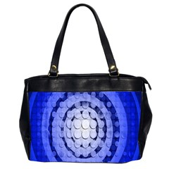 Abstract Background Blue Created With Layers Office Handbags (2 Sides)  by Simbadda