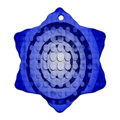 Abstract Background Blue Created With Layers Snowflake Ornament (two Sides) by Simbadda