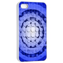 Abstract Background Blue Created With Layers Apple Iphone 4/4s Seamless Case (white) by Simbadda