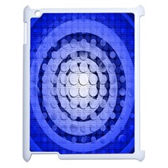 Abstract Background Blue Created With Layers Apple Ipad 2 Case (white) by Simbadda