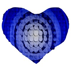 Abstract Background Blue Created With Layers Large 19  Premium Heart Shape Cushions by Simbadda
