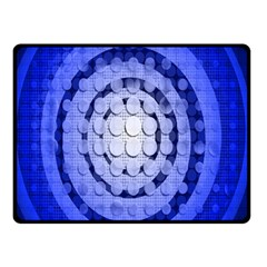 Abstract Background Blue Created With Layers Double Sided Fleece Blanket (small)  by Simbadda