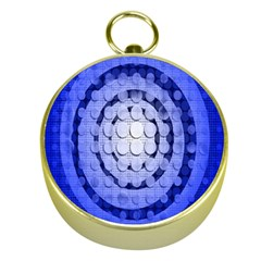 Abstract Background Blue Created With Layers Gold Compasses by Simbadda