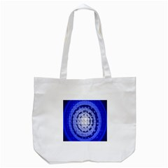 Abstract Background Blue Created With Layers Tote Bag (white) by Simbadda