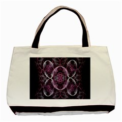 Fractal In Lovely Swirls Of Purple And Blue Basic Tote Bag by Simbadda
