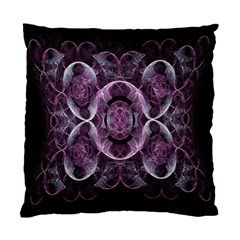 Fractal In Lovely Swirls Of Purple And Blue Standard Cushion Case (two Sides) by Simbadda