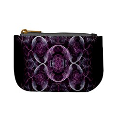 Fractal In Lovely Swirls Of Purple And Blue Mini Coin Purses by Simbadda