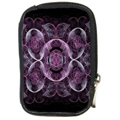 Fractal In Lovely Swirls Of Purple And Blue Compact Camera Cases by Simbadda