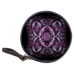 Fractal In Lovely Swirls Of Purple And Blue Classic 20 Cd Wallets by Simbadda