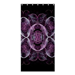 Fractal In Lovely Swirls Of Purple And Blue Shower Curtain 36  X 72  (stall)  by Simbadda
