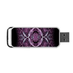Fractal In Lovely Swirls Of Purple And Blue Portable Usb Flash (one Side) by Simbadda