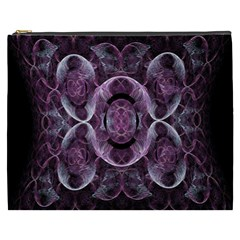 Fractal In Lovely Swirls Of Purple And Blue Cosmetic Bag (xxxl)  by Simbadda