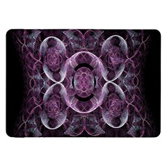 Fractal In Lovely Swirls Of Purple And Blue Samsung Galaxy Tab 8 9  P7300 Flip Case by Simbadda