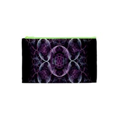 Fractal In Lovely Swirls Of Purple And Blue Cosmetic Bag (xs) by Simbadda