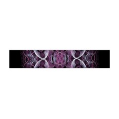 Fractal In Lovely Swirls Of Purple And Blue Flano Scarf (mini) by Simbadda