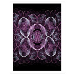 Fractal In Lovely Swirls Of Purple And Blue Drawstring Bag (large) by Simbadda