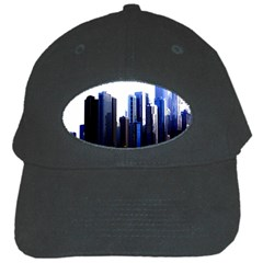Abstract Of Downtown Chicago Effects Black Cap by Simbadda