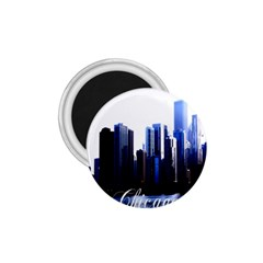 Abstract Of Downtown Chicago Effects 1 75  Magnets by Simbadda