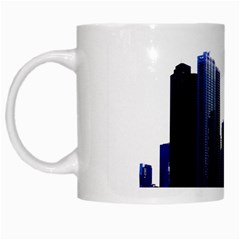 Abstract Of Downtown Chicago Effects White Mugs by Simbadda