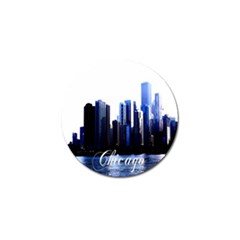 Abstract Of Downtown Chicago Effects Golf Ball Marker (4 Pack) by Simbadda