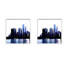 Abstract Of Downtown Chicago Effects Cufflinks (square) by Simbadda