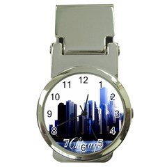 Abstract Of Downtown Chicago Effects Money Clip Watches by Simbadda