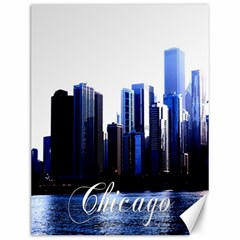Abstract Of Downtown Chicago Effects Canvas 12  X 16   by Simbadda