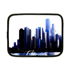 Abstract Of Downtown Chicago Effects Netbook Case (small)  by Simbadda