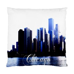 Abstract Of Downtown Chicago Effects Standard Cushion Case (two Sides) by Simbadda