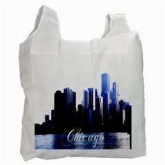 Abstract Of Downtown Chicago Effects Recycle Bag (two Side)  by Simbadda