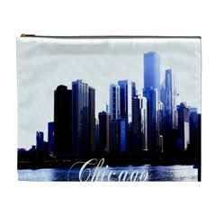 Abstract Of Downtown Chicago Effects Cosmetic Bag (xl) by Simbadda