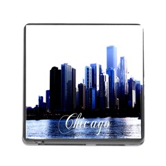 Abstract Of Downtown Chicago Effects Memory Card Reader (square) by Simbadda