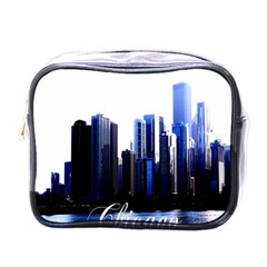 Abstract Of Downtown Chicago Effects Mini Toiletries Bags by Simbadda