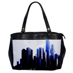 Abstract Of Downtown Chicago Effects Office Handbags by Simbadda