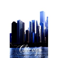 Abstract Of Downtown Chicago Effects 5 5  X 8 5  Notebooks by Simbadda