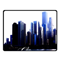 Abstract Of Downtown Chicago Effects Fleece Blanket (small) by Simbadda