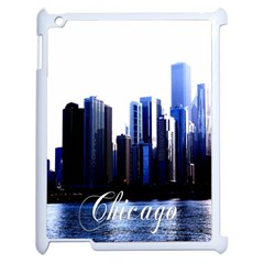 Abstract Of Downtown Chicago Effects Apple Ipad 2 Case (white) by Simbadda