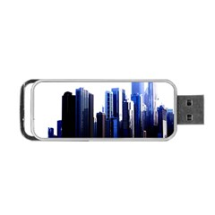 Abstract Of Downtown Chicago Effects Portable Usb Flash (one Side) by Simbadda