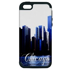 Abstract Of Downtown Chicago Effects Apple Iphone 5 Hardshell Case (pc+silicone) by Simbadda